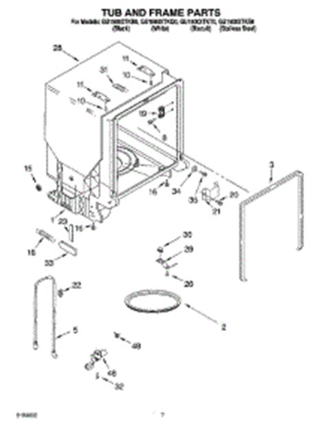 Parts For Whirlpool Guxtkq Dishwasher