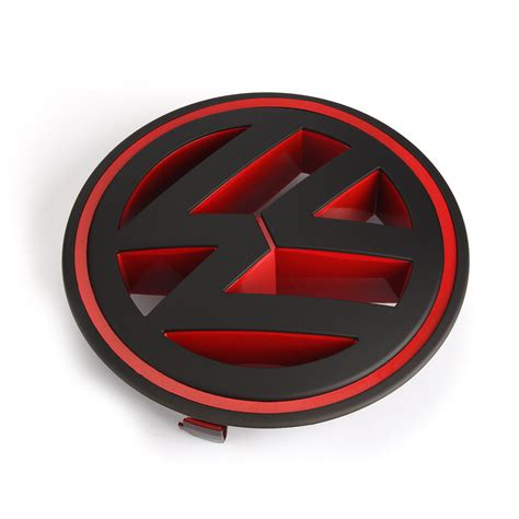Logo Replacement by Replacement Logo Decal Front Grill Badge Matt Black
