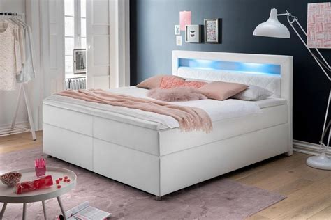 meise m 246 bel boxspringbett wei 223 mit led beleuchtung otto