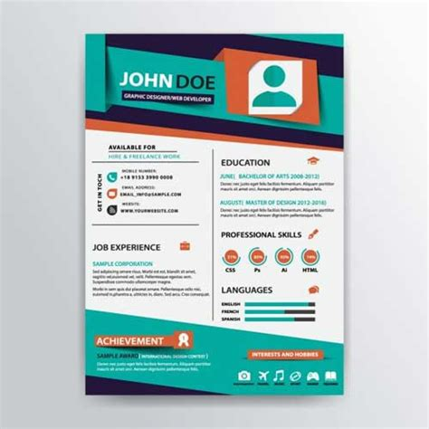 Design A Resume In Illustrator by Resume Template Designs You Can And Edit For Free
