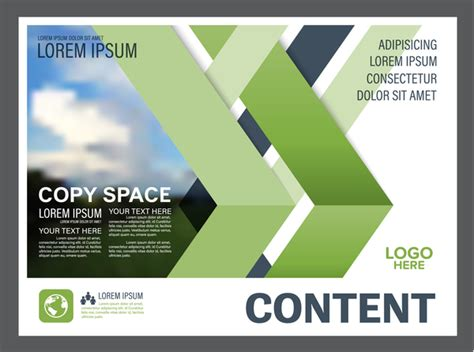 Blue And Green Vector Brochure Flyer Design Template Blue With Green Styles Flyer And Cover Brochure Vector