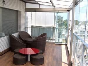Rideau Pour Balcon : fermeture balcon loggia en rideau verre sans profils ~ Premium-room.com Idées de Décoration