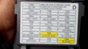 Subaru Legacy Fuse Box Translation