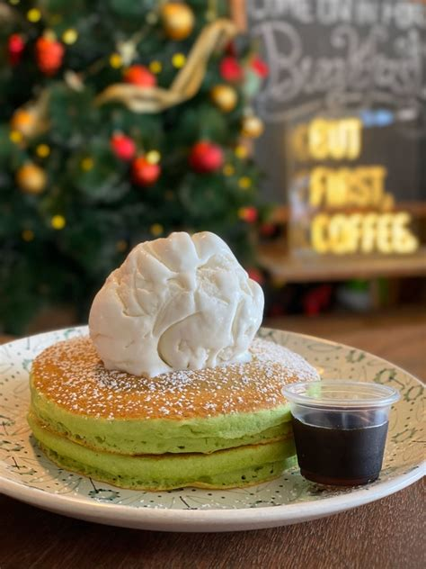 Pandan leaf is used widely in balinese cooking and gives it the distinctive grab a pancake and dollop filling in the middle of the pancake. Pandan Pancake at Tolido's Espresso Nook   Burpple