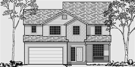 house plans for narrow lots with front garage narrow lot house plans building small houses for small lots
