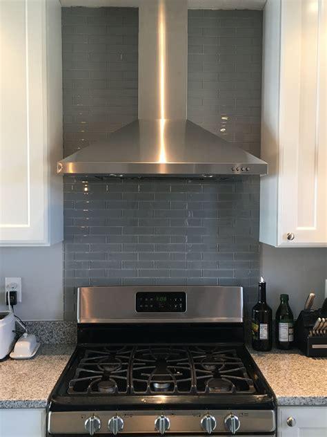 Kitchen Range Backsplash by Our Kitchen Reno Glass Backsplash The Gas Stove