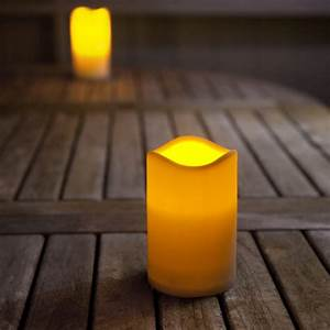 Small outdoor battery led candle with timer lights fun