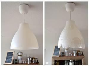Lampe Suspension Ikea : diy romantische doiley lampe ikea hack ~ Teatrodelosmanantiales.com Idées de Décoration