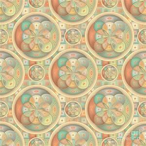 Complex Geometric Pattern Digital Art by Gaspar Avila