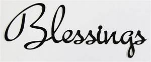 Word Cutout Blessings