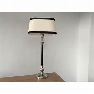 Lampenschirm Schwarz Weiß Gestreift : tischleuchte mit lampenschirm schwarz wei tischlampe schwarz verchromt h he 53 cm ~ Indierocktalk.com Haus und Dekorationen