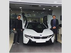 Peter Andre collects his new BMW i8 from Rybrook BMW