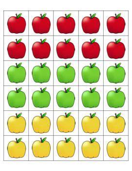apple counting mats   pecs apple apple theme