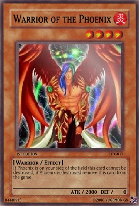 Types Of Warrior Decks Yugioh by Warrior Of The Yu Gi Oh Card Maker Wiki Cards