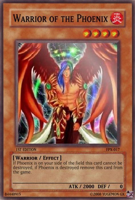 warrior   phoenix yu gi  card maker wiki fandom