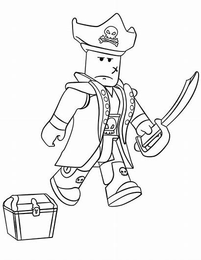 Coloring Roblox Pages Pirate Printable Games Categories