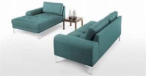 canapes bleu vert et vert bleu mobilier canape deco With canapé d angle velours bleu
