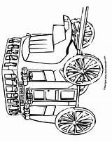 Coloring Pages Stagecoach West Adults Colouring Stage Printable Coach Western Template Sheets Town Adult Sketch sketch template