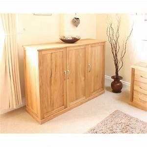 baumhaus mobel oak extra large shoe cupboard cor20f