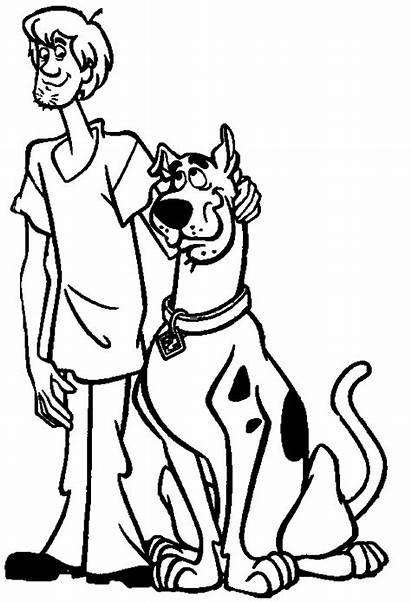 Scooby Doo Coloring Boys Sheets Dibujos Printable
