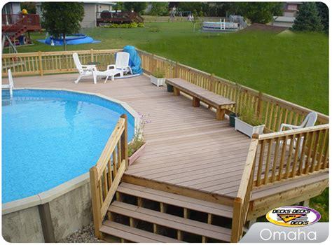 pool deck material pool spa decks photo gallery decks decks and more decks custom deck builder omaha