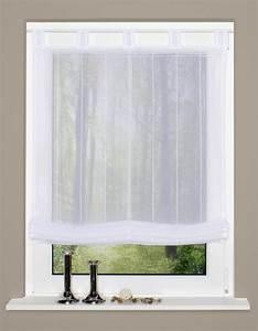 Raffrollo 40 Cm : raffrollo rollo schlaufen wei transparent mit streifen 140x140cm gardinen fertiggardinen raff ~ Markanthonyermac.com Haus und Dekorationen