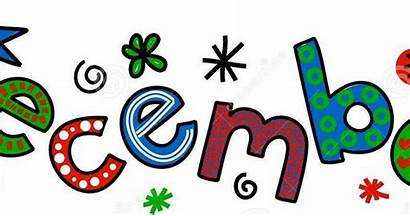 December Clip Month Writing Text Cartoon Whimsical