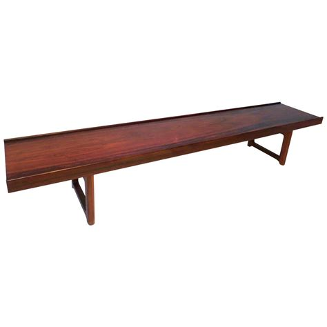 low height coffee table long low profile bench or coffee table in rosewood