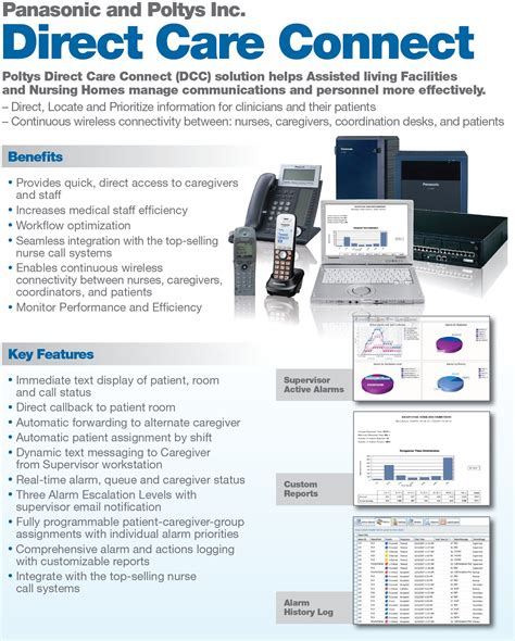 panasonic call integration soulutions advanced care ip call and potlys direct care