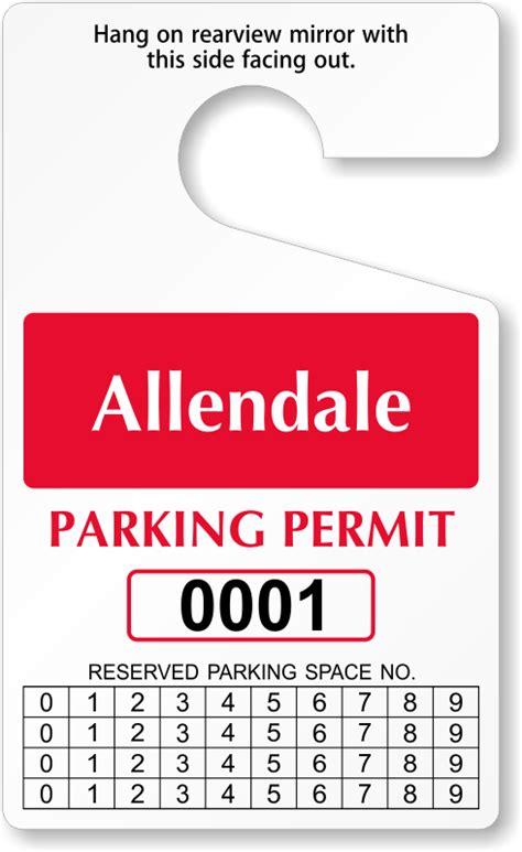 Reserveaspot™ Parking Permits  Free Shipping