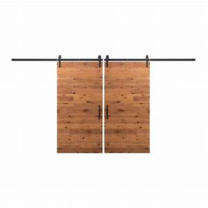 Rustica hardware bi parting 42 in x 84 in rustica for Bi parting barn door kit