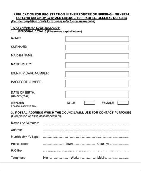 registration form format pdf 51 registration forms in pdf sle templates