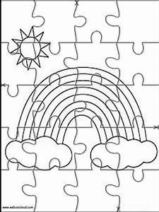 Rainbow Jigsaw To Cut Out 10