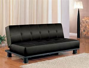 Futon Sleeper Sofa Bed Vinyl Leather Finish EBay