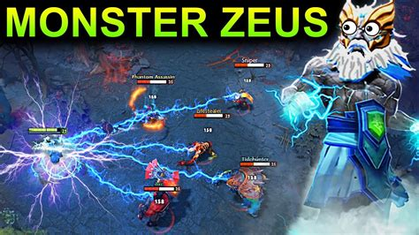 zeus patch 7 11 dota 2 new meta gameplay 63 carry zeus youtube