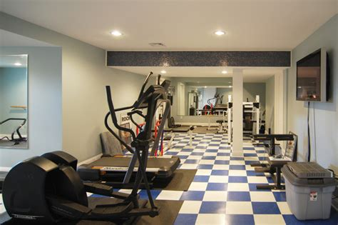 exercise room traditional home gym  york