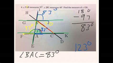 angles worksheet 8th grade