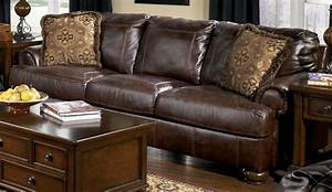 Ashley furniture brown leather sofa sweet ashley furniture for Brown leather sectional sofa ashley furniture