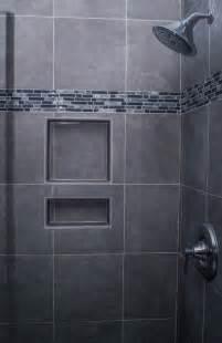 bathroom decoration calm gray shower wall idea with mosaic wall trim rsmacal