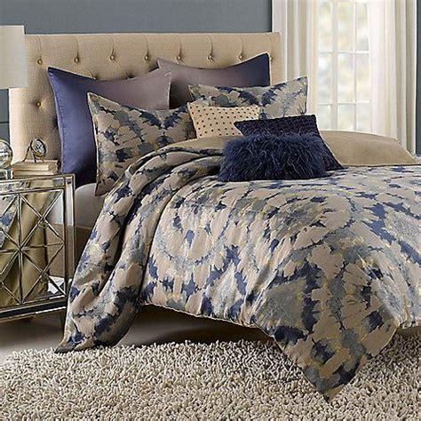 vue kavala full queen duvet set beige blue gray abstract