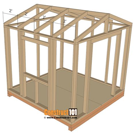 shed plans 8x8 net garden shed plans 8x8 step by step construct101