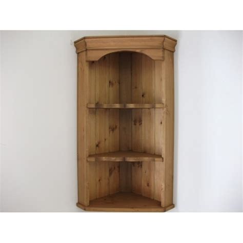 wall mounted corner cabinet pine wall corner unit w49cm 6946