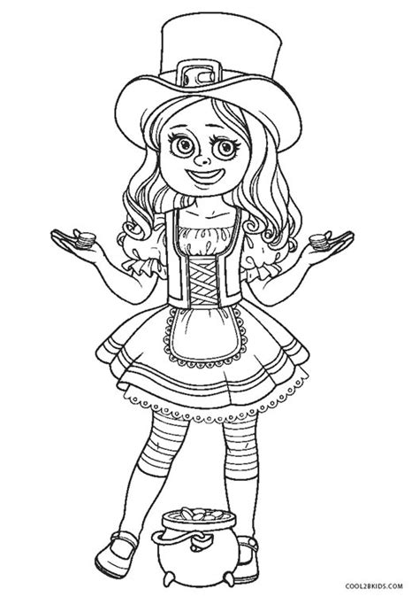 printable leprechaun coloring pages  kids coolbkids