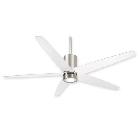 brushed nickel ceiling fans with white blades 56 quot minka aire symbio ceiling fan f828 bn wh brushed