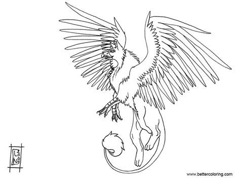 Coloring Outlines by Griffin Coloring Pages Outline Free Printable Coloring Pages