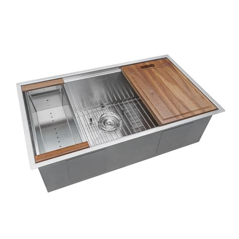 stainless steel sinks home depot ruvati 32 in single bowl undermount 16 stainless