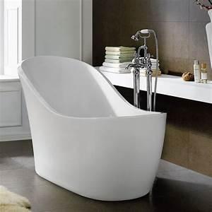 1520mm Freestanding Slipper Bath Modern Bathroom Acrylic White Bathtub Br68 In  U2026