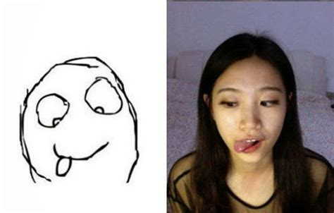 Meme Faces Girl - girl making meme faces damn cool pictures