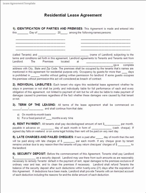 rent   contracts template   template