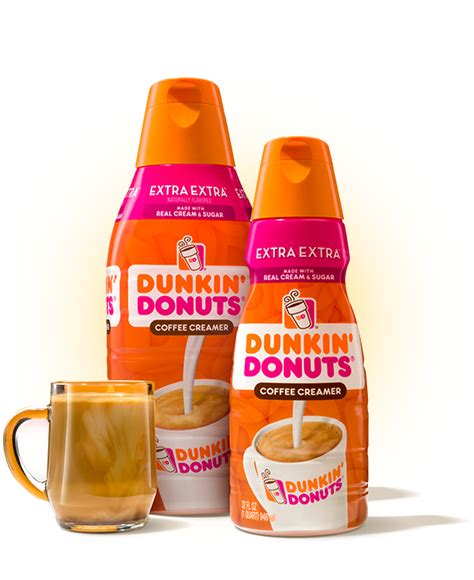 Made with real cream & sugar, extra extra creamer singles are shelf stable and ready to make the dunkin' run when you are. Dunkin'® Extra Extra Creamer